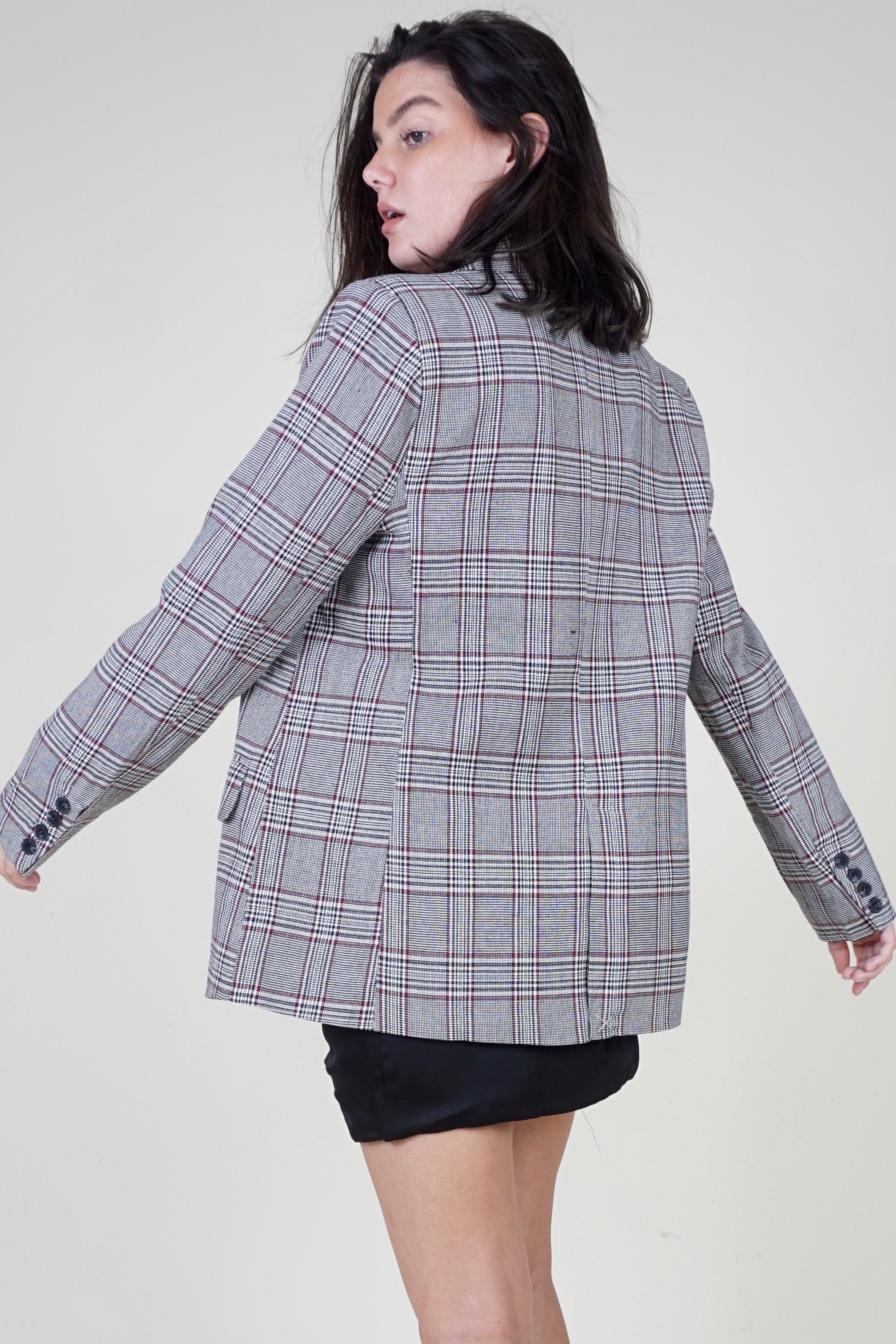 Rewind Plaid Blazer - Brightside Boutique