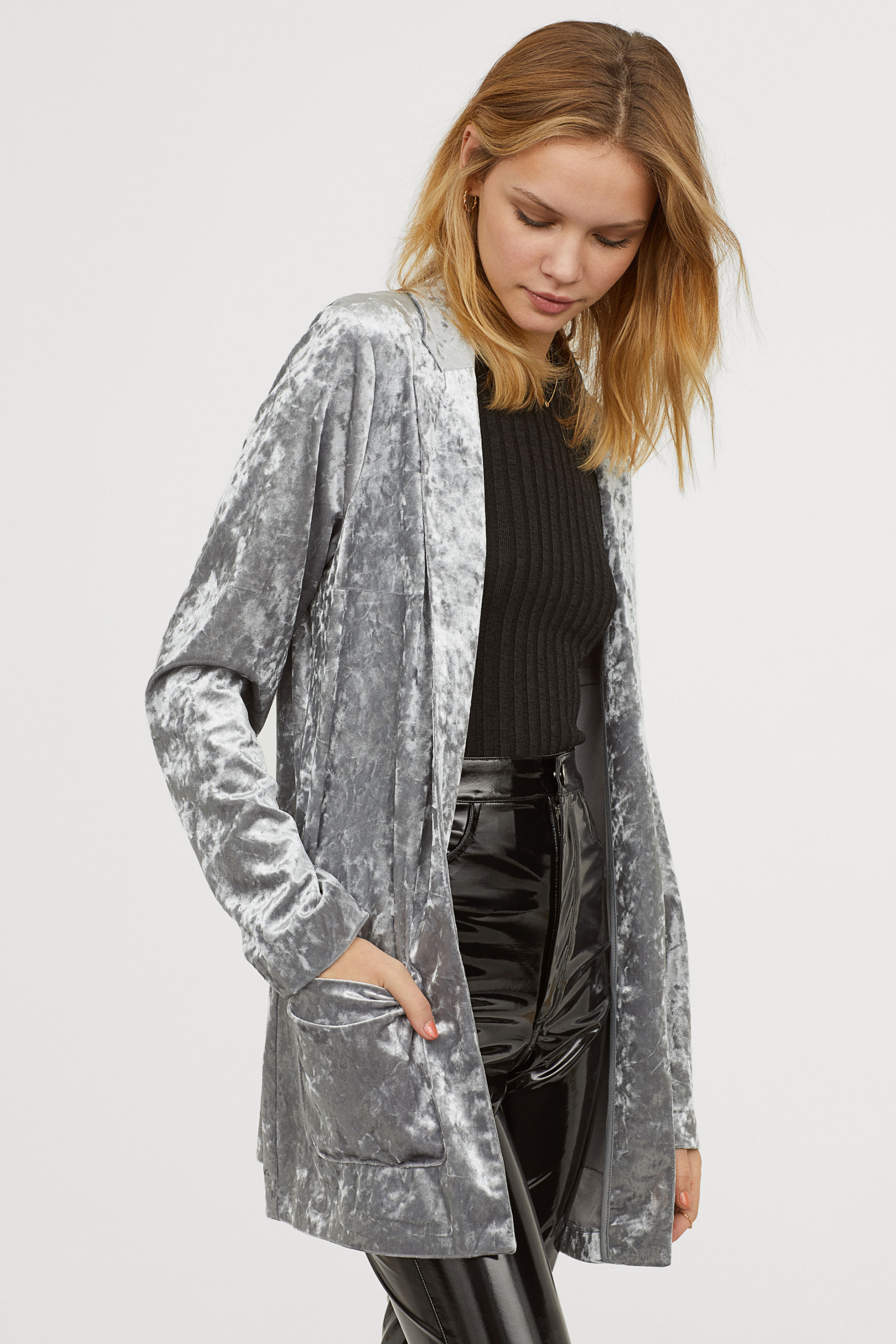 Crushed Velvet Jacket - H&M