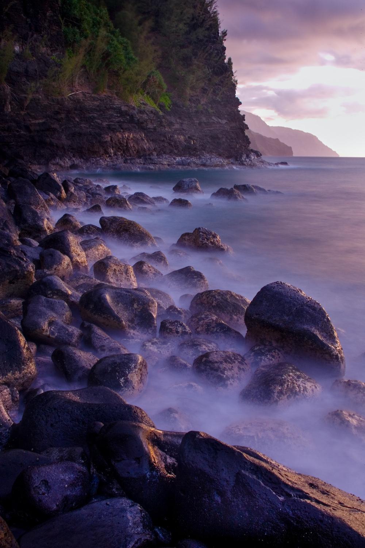 Sunset at Ke'e, Kauai