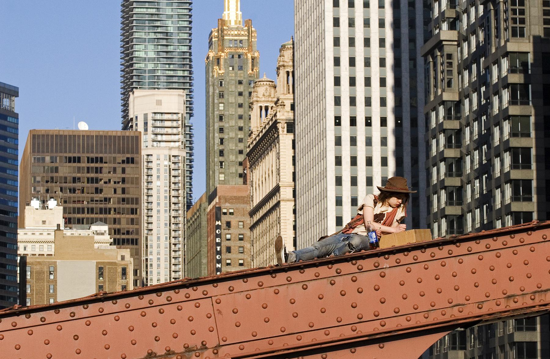 Huck Finn visits Chicago