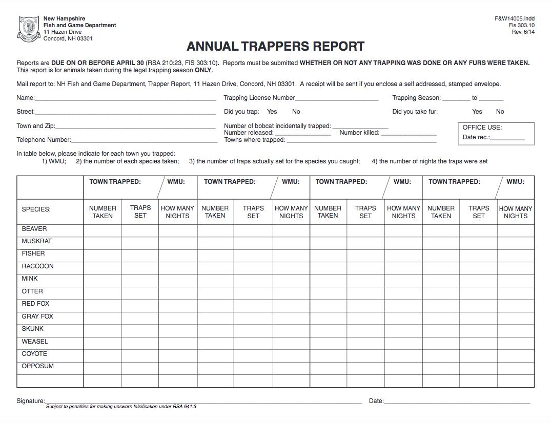 A sample image of NHFG's mandatory reporting form.