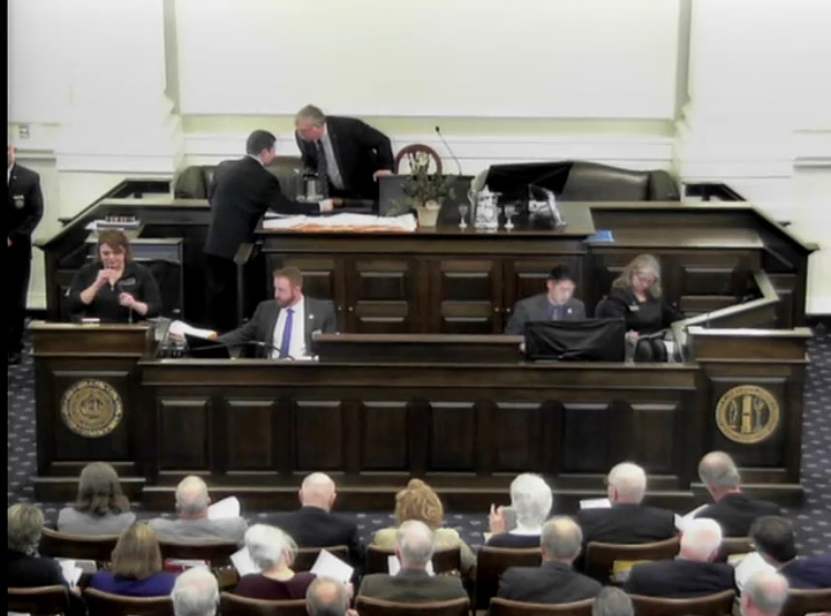 Testimony ensues from various house representatives during NH's HB442 this year. (Photo   Furbearer Conservation)