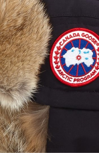 CANADA GOOSE Men Down Fill Aviator Hat with Genuine Coyote Fur Trim Navy218_1_LRG.jpg