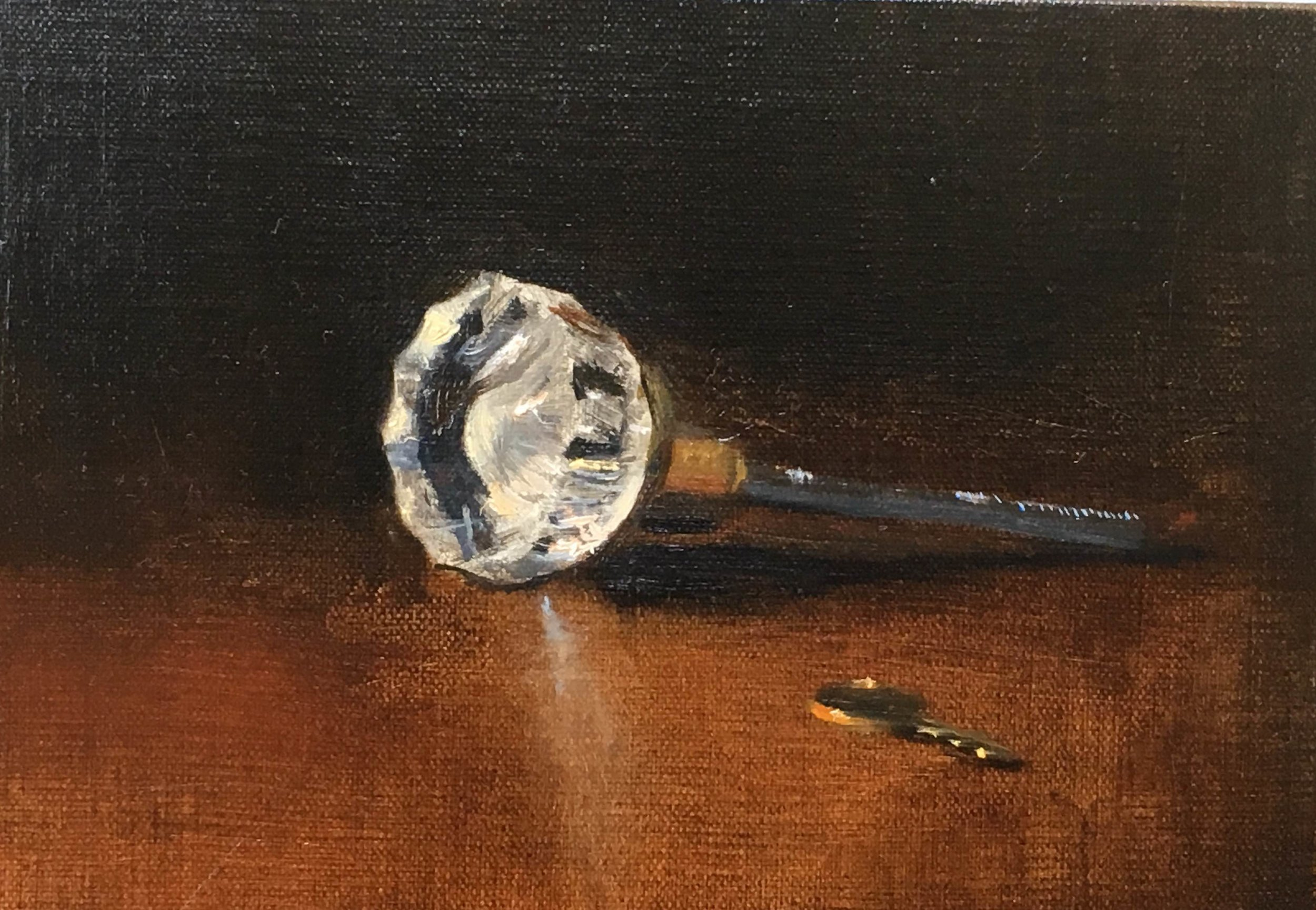 "Oil on Linen  5"" x 7""  Available"