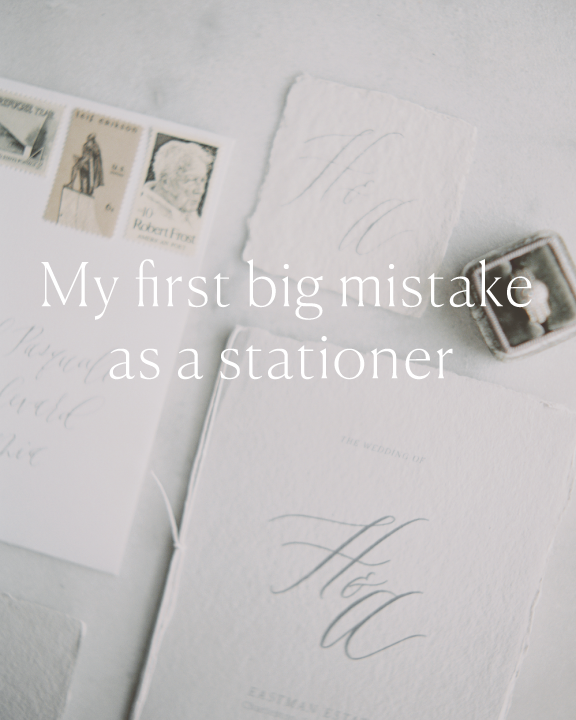 My first big mistake as a stationer Jenny Sanders.co