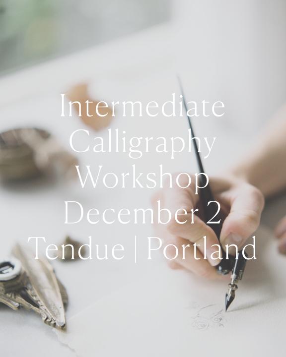 Intermediate-Calligraphy-Class Jenny Sanders.co