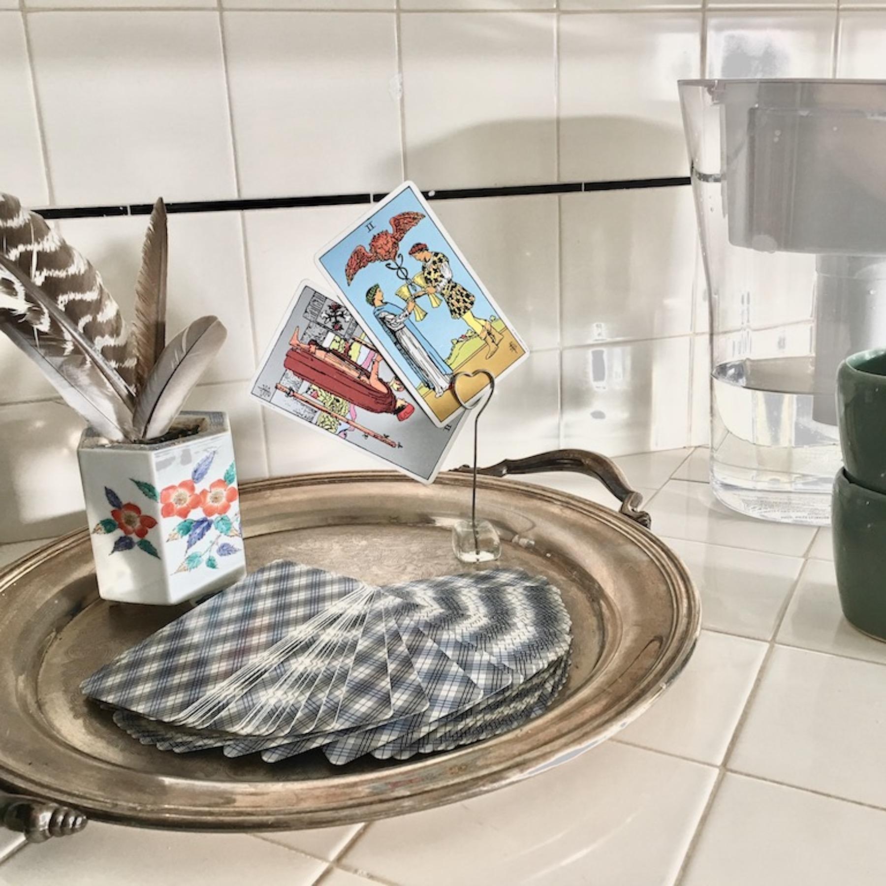 tarot in the kitchen
