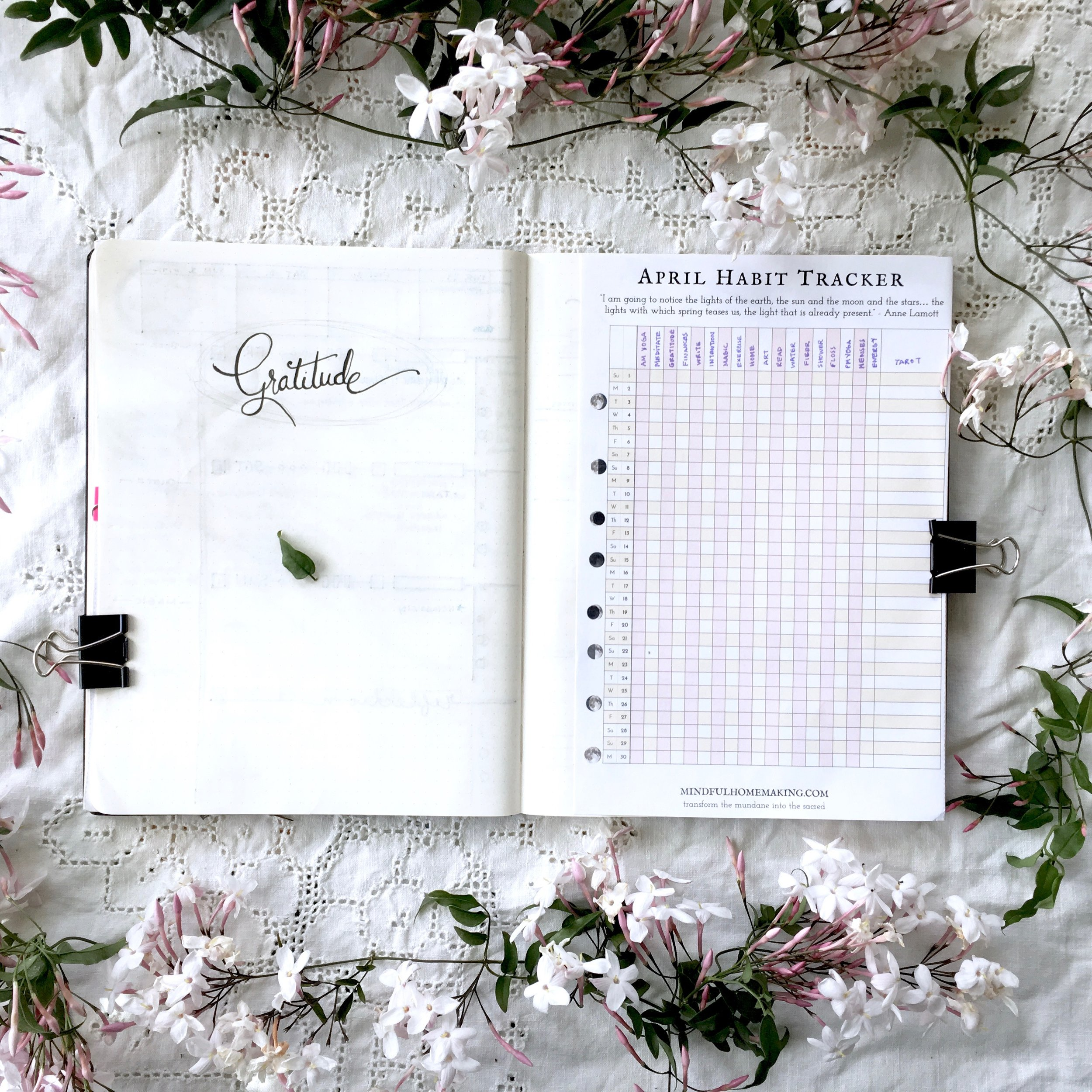 April Habit Tracker and Gratitude Journal