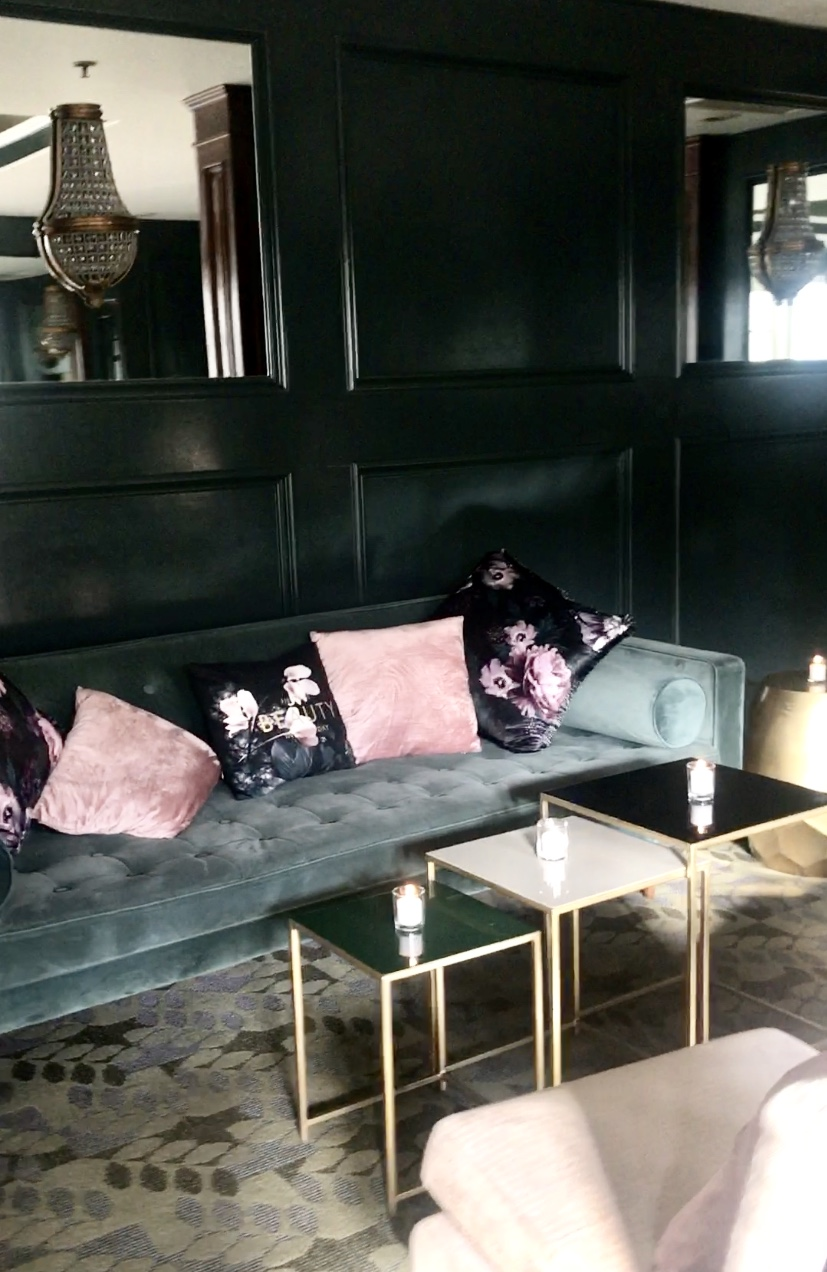 Could not get enough of this space… - The colors and vibe so lusciously dark and moody.
