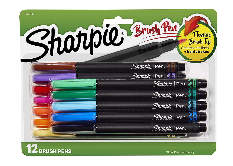 Sharpie Brush Tip Pens (12 pack) $14