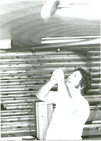 Sandro Sperduti, 1948-2011  Throwing pizza dough at his pizza joint in Toronto in the 70`s!