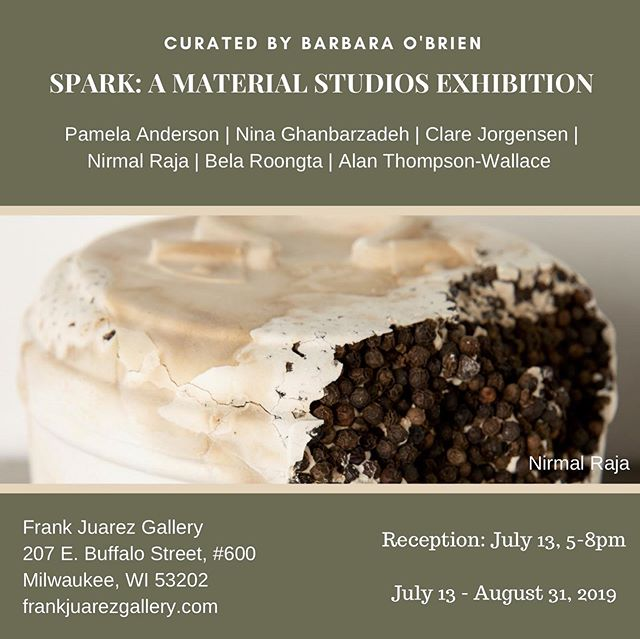 SPARK! Exhibition July 13th - August 31st.  Join us for the opening reception 7/13/19 from 5-8pm @frankjuarezgallery.  Curated by @barbaraobrienart  @pamelaandersonstudio @belasuresh @clarejorgensenstudio @nina_ghanbarzadeh @nirmal.raja @alanthompsonwallaceart @barbaraobrienart @frankjuarezgallery