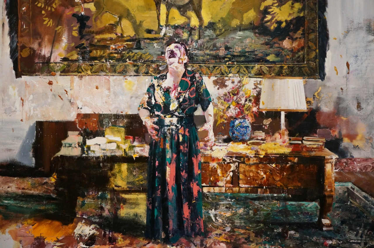 Adrian Ghenie, Pie Fight Interior #8, 2012