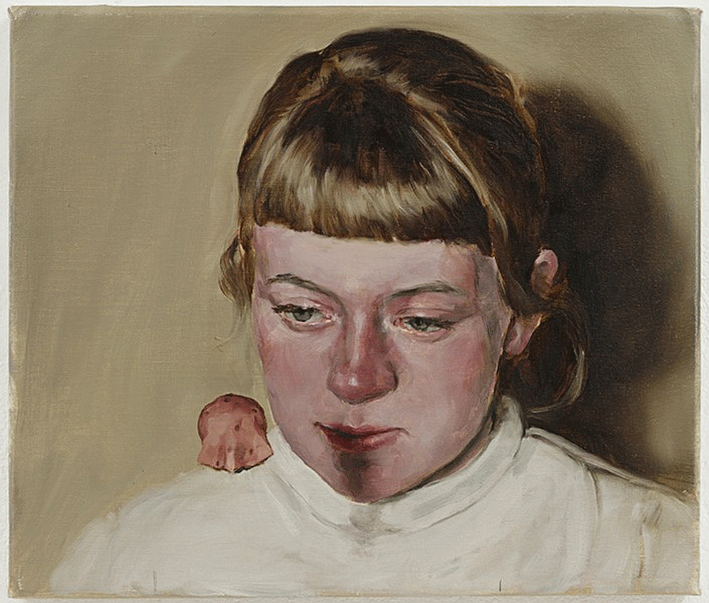 Michaël Borremans, The Hood, oil on canvas, 2007
