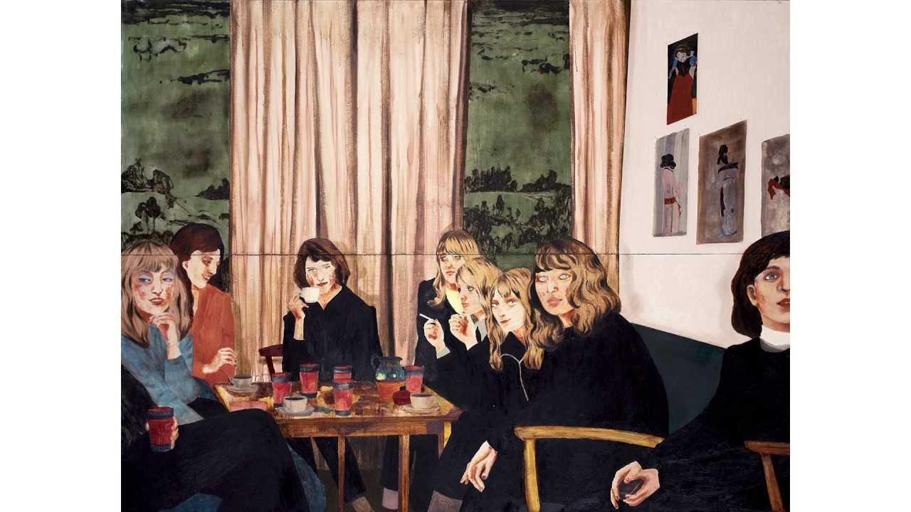 """pintura da Andersson como capa do single """"Defriended"""" do Beck. Clique na imagem para ouvir."""
