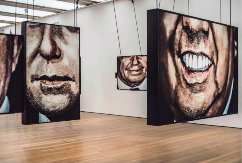 Série  A máscara, o gesto, o papel  -  parte da exposição Corpo a corpo: a disputa das imagens, da fotografia à transmissão ao vivo  -  IMS Paulista, São Paulo, 2017.
