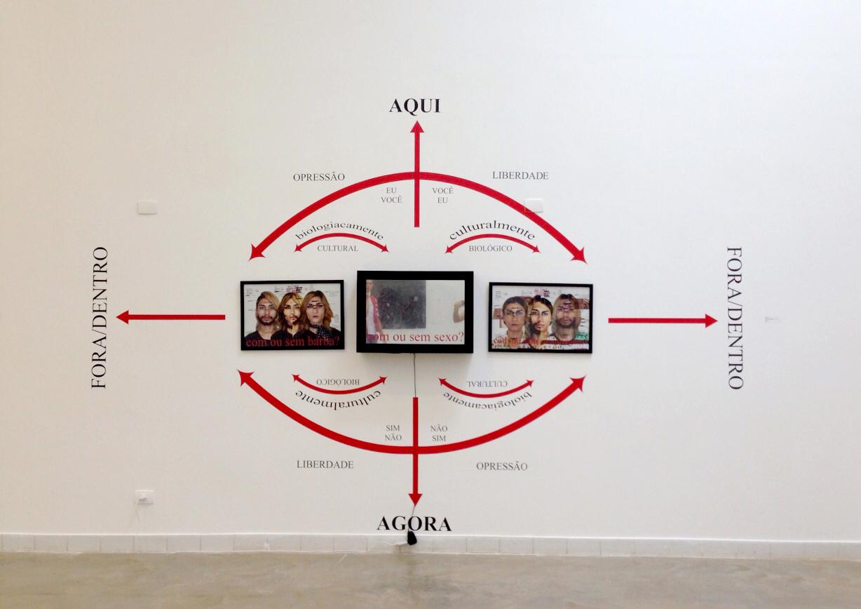 Alice Yura   Com e Sem?  , 2013/2014 foto-instalação 10m²