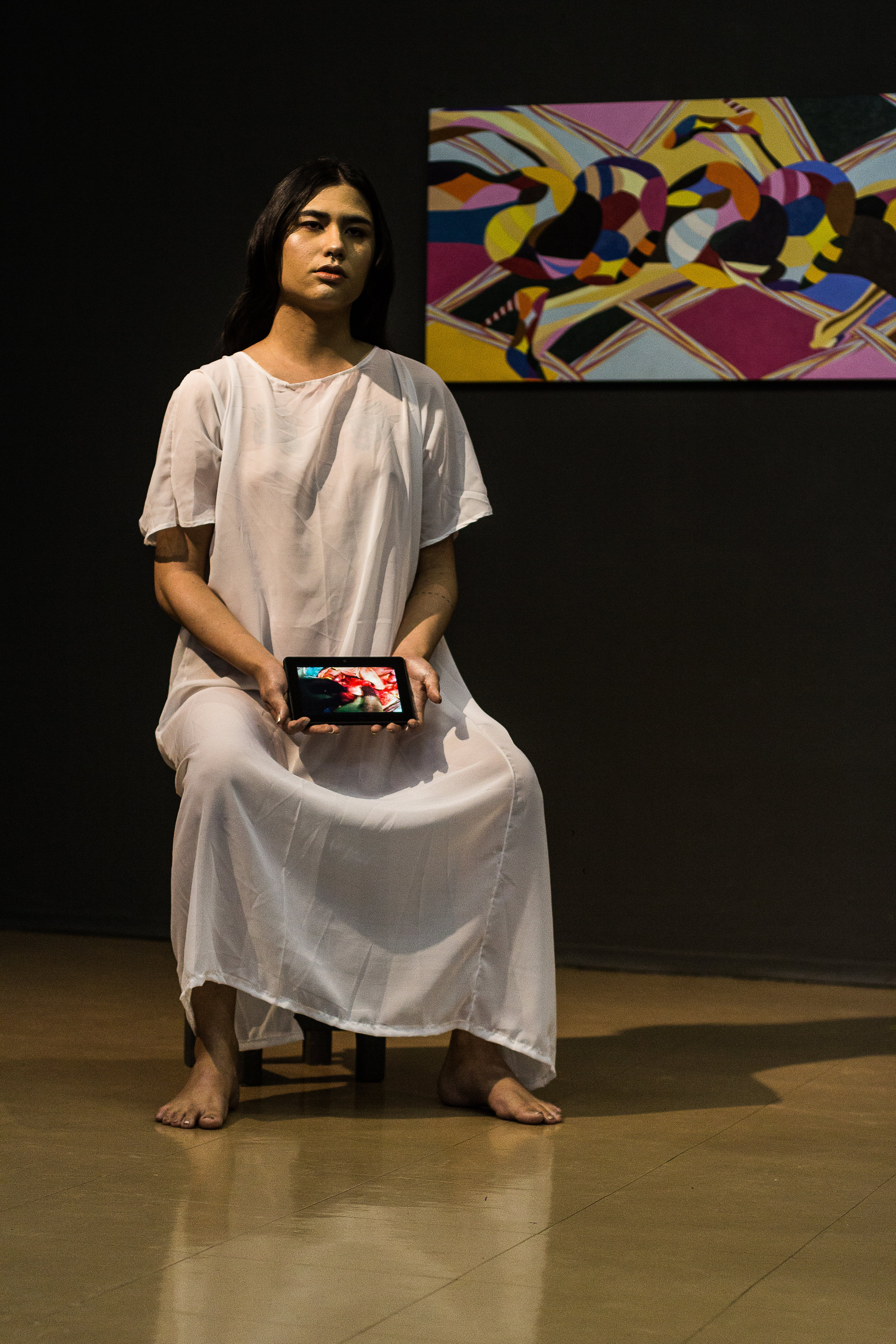 Alice Yura   Nem Eva, nem Maria: Alice  , 2018 performance Registro fotográfico: Marina Pacheco