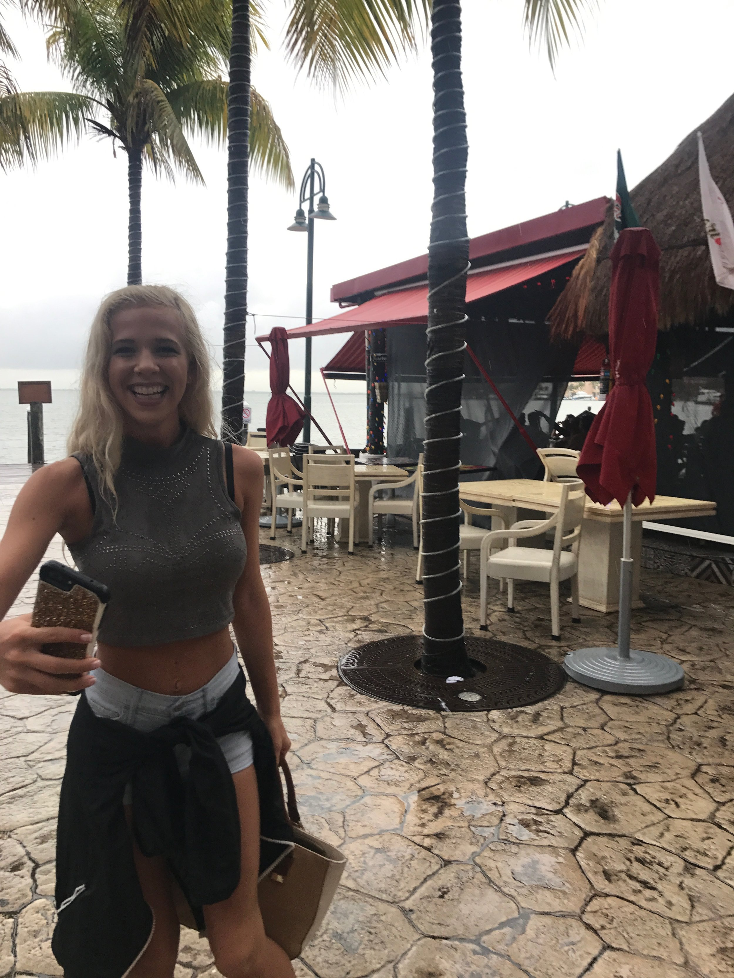 The first couple days were masked by the rain although that never stops us. This was Ambers first time out of the United States..this picture really captures her emotions of her first day in Mexico.