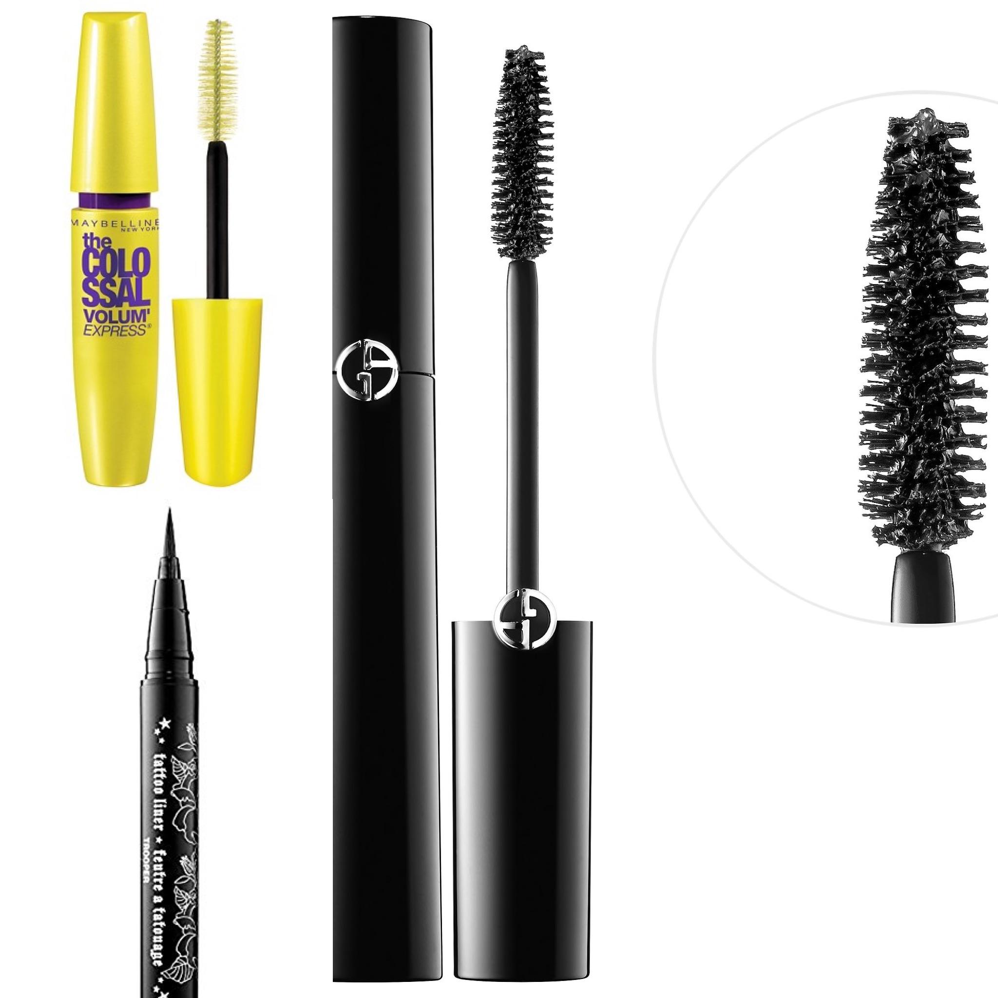Eyeliner and Mascara -