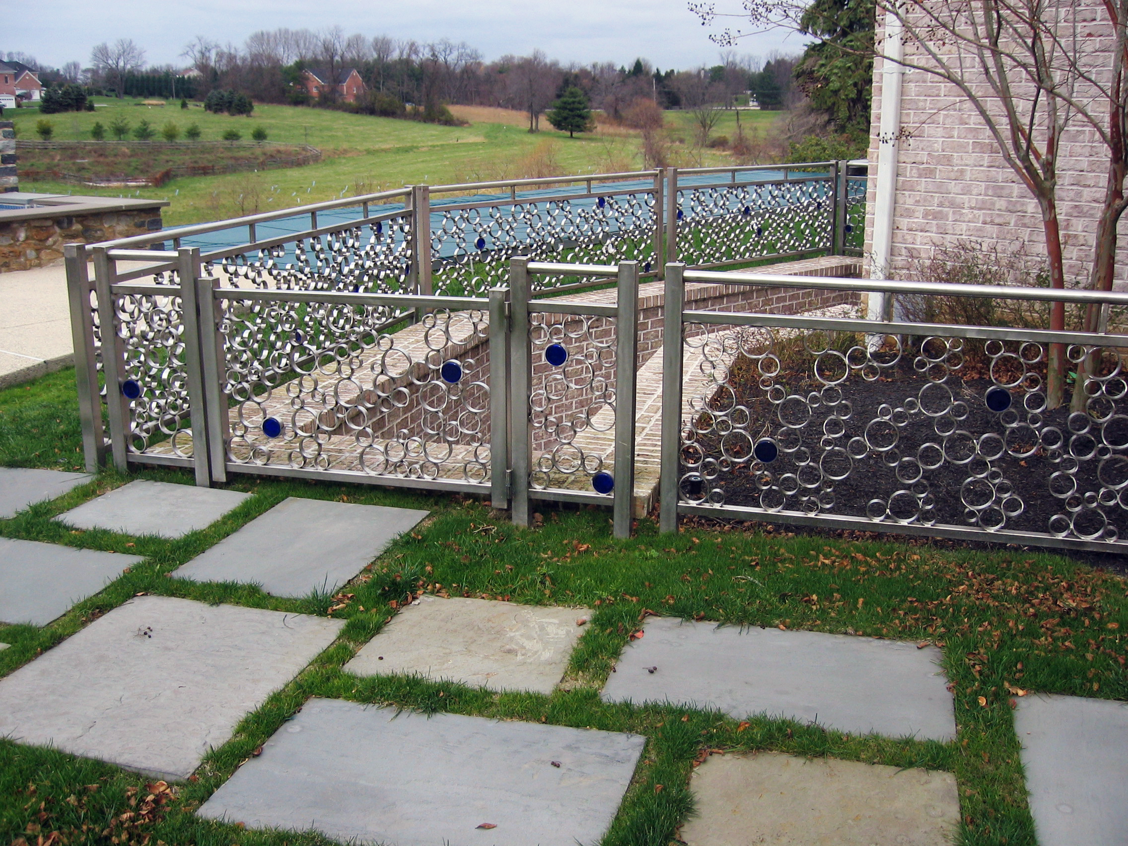 Concentric Railing and Gate