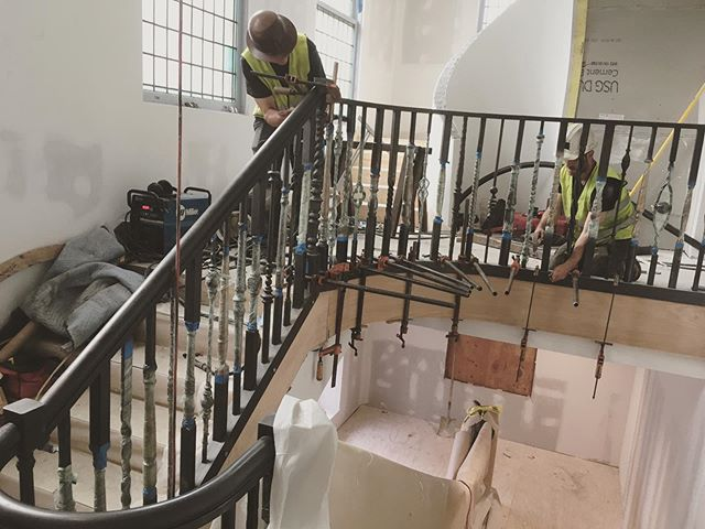 We rounded the last corner and are onto the homestretch of this project. All eight sections are in place, handrails next