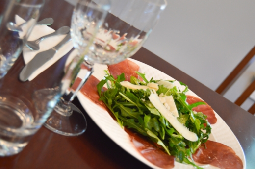 Bresaola place setting