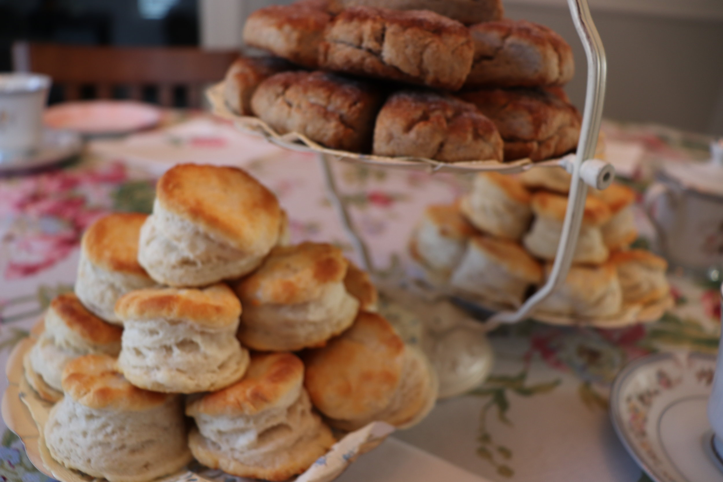 Biscuit and scone course