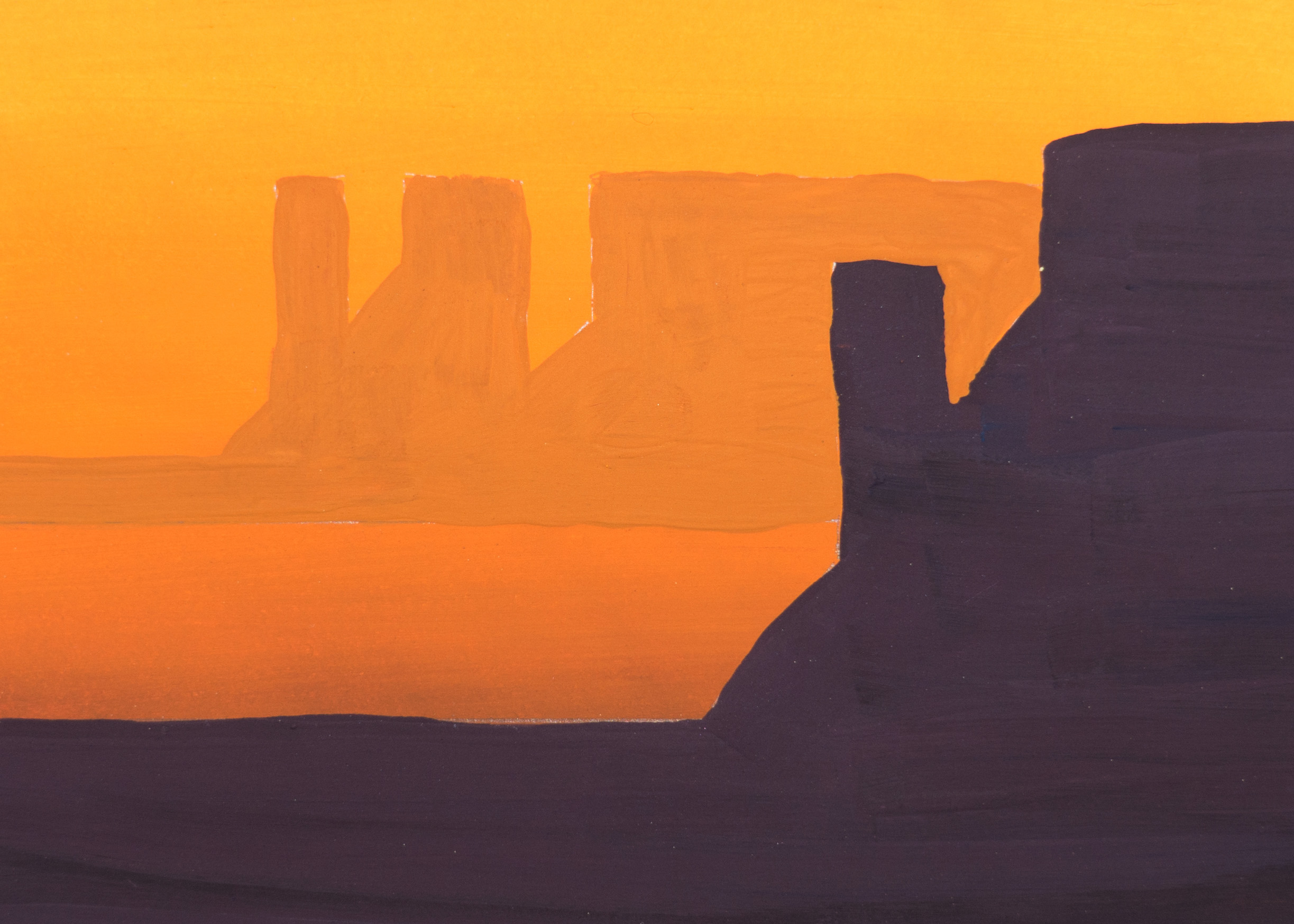 A small Caesin gradient test piece, my brushwork is a little rusty.