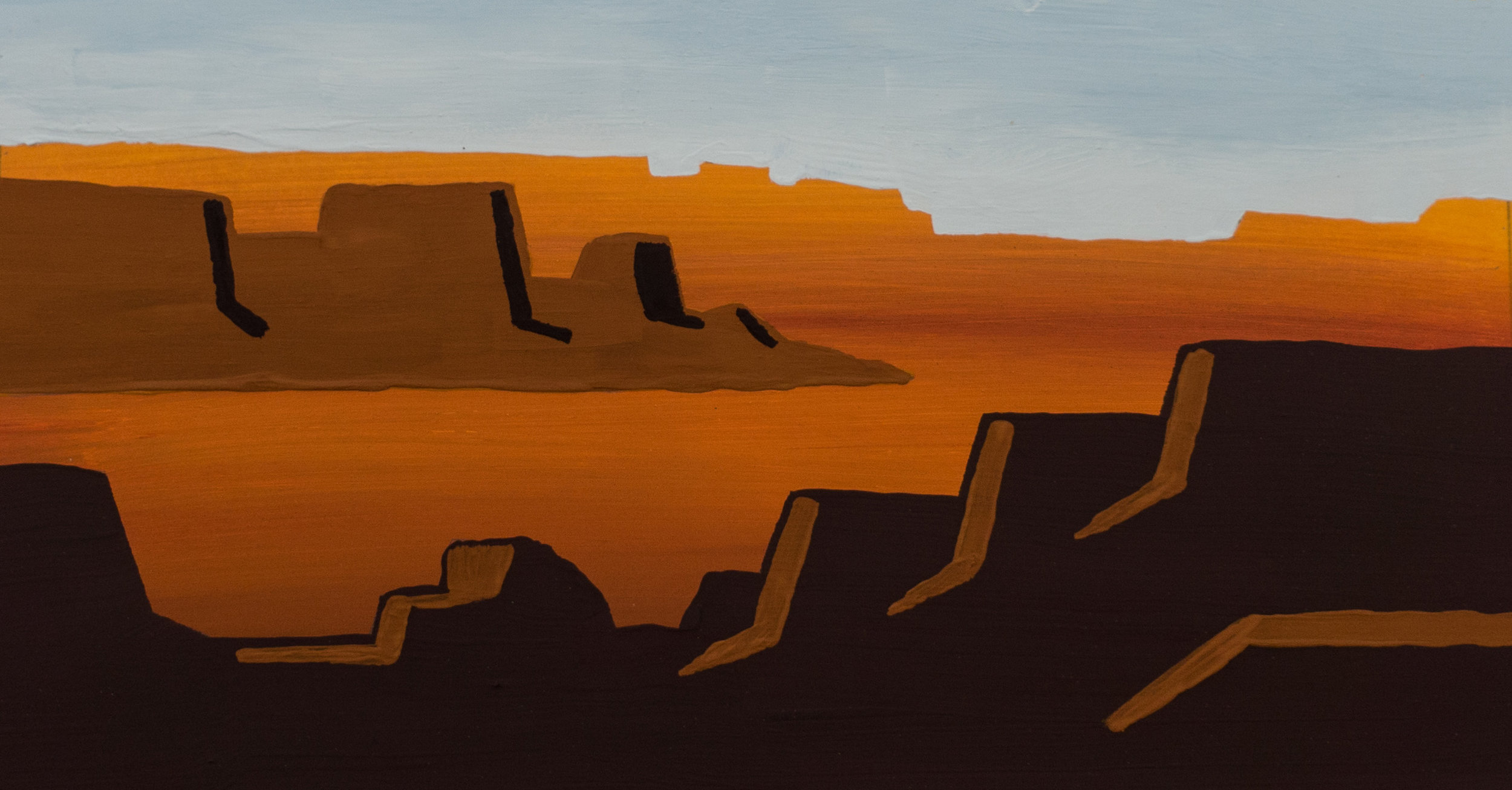 Another Caesin piece, experimenting to see how much opacity it carries overtop of previous layers.