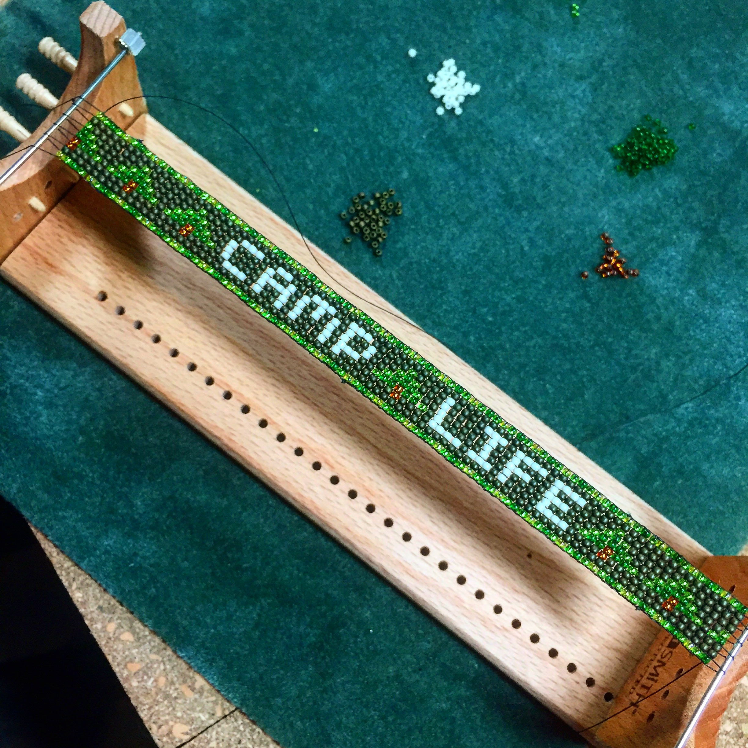 Made a CAMP LIFE hatband for my Dad.