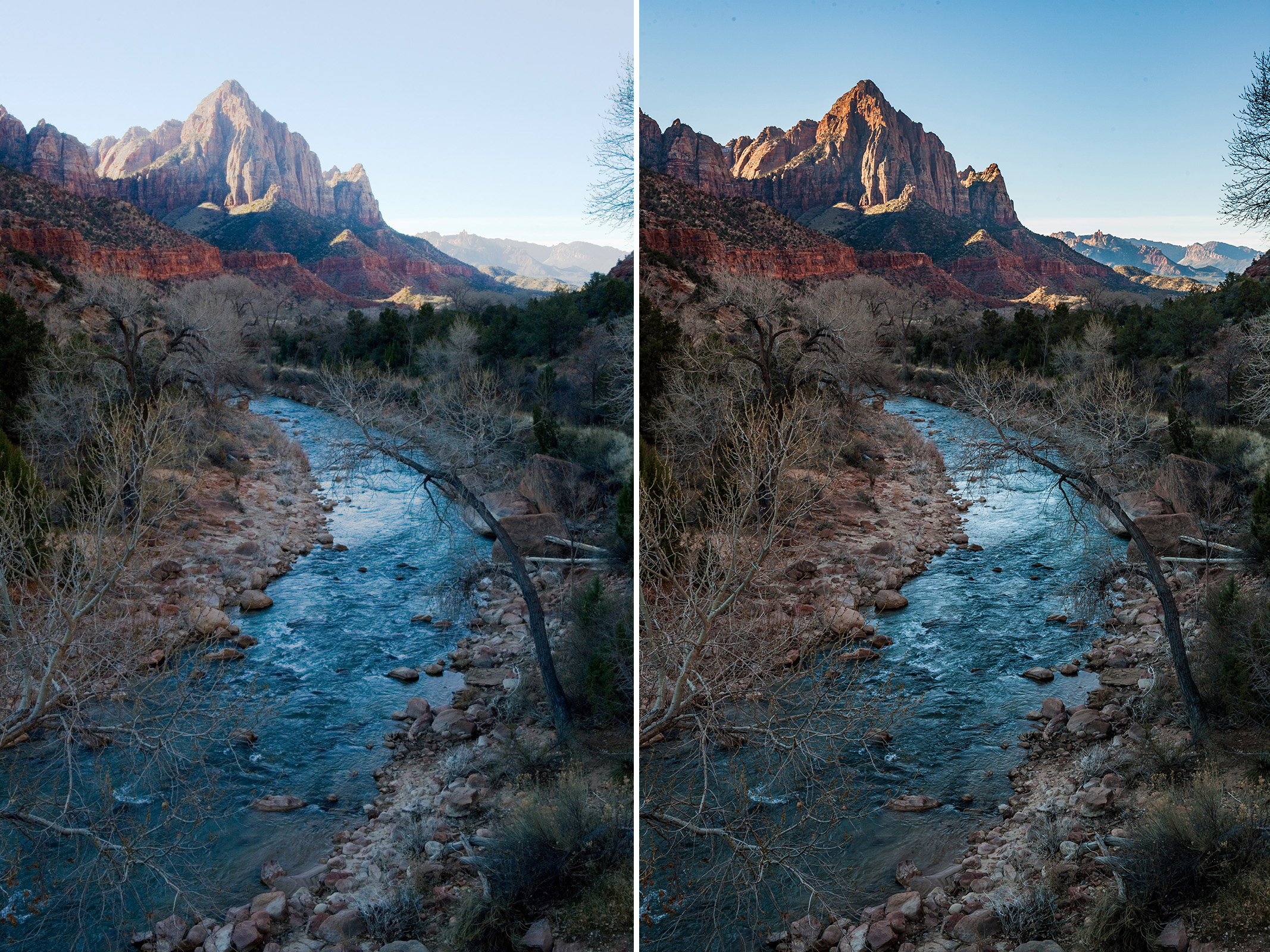 Zion NP – 2006, comparison 1