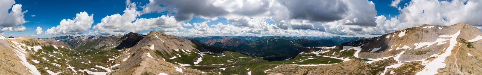 Pano taken from up on top of Black Bear Pass