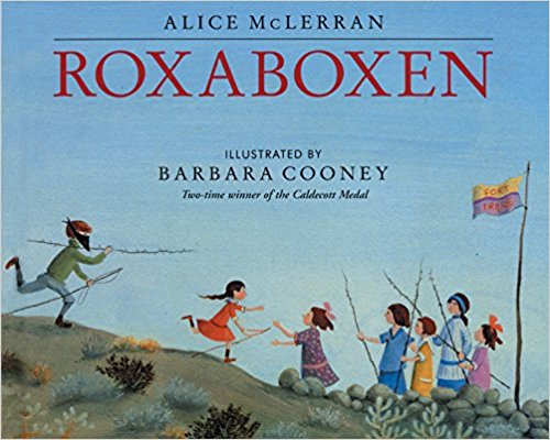 """Roxaboxen - If I had to pick a favorite, this is it! Maybe because it brought back so many memories of my childhood, of my sister and I creating our own homes in the woods with friends. Or maybe it is because the children in this book see the value in constructing two ice cream shops. Either way, Roxaboxen is a magical book where neighborhood children create their own special town of """"Roxaboxen"""" in the middle of the desert, a town made of white stones, desert glass, and abandoned wooden crates. They even have a mayor, a policeman, a bakery and two dueling ice cream shops."""