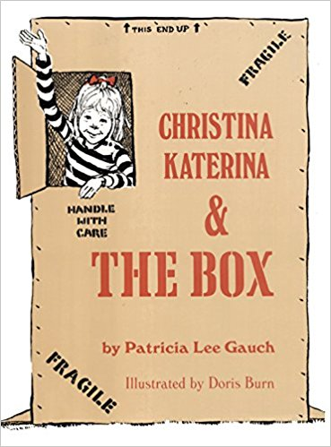 """Christina Katerina and the Box - After every holiday with gift giving, my husband and I say, """"I think all they needed was the boxes!"""" And all Christina Katerina needed was a box for endless days of fun in her backyard. A secret clubhouse, a castle, and a race car all appear out of an abandoned box. After you read this, you are going to buy some giant appliances just to get your own box!"""