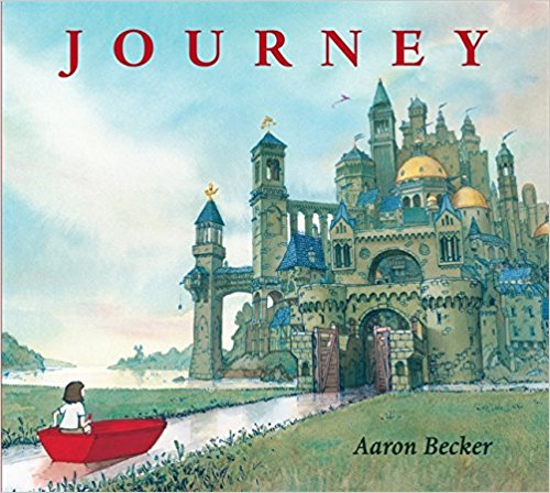 Journey - Journey was our introduction to the world of wordless books. Follow a girl as she finds a red crayon on the sidewalk, a magical crayon that draws a door to a whole new world, full of adventure. Each time we look through this book, we create our own new twist on the storyline.