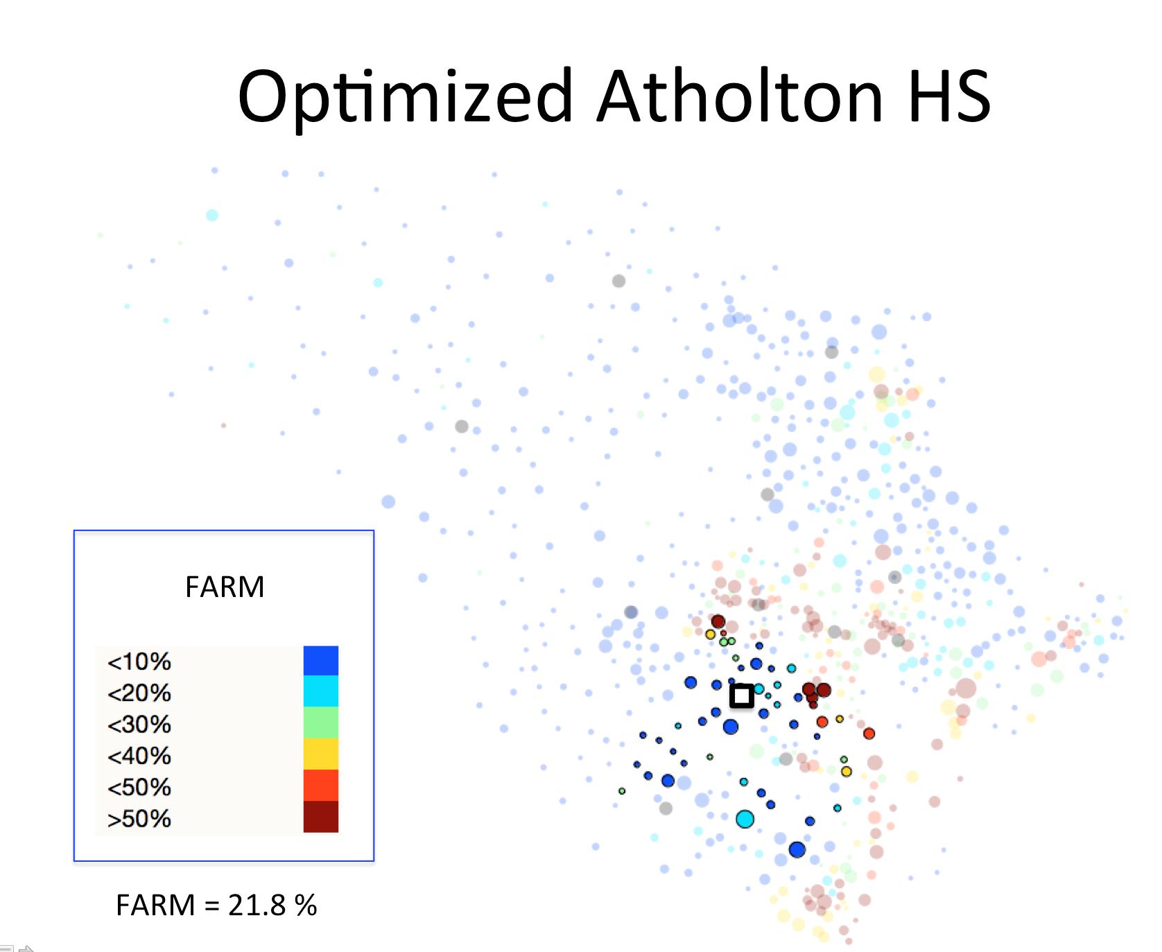 Figure 1 (A): Atholton HS District Optimized Plan