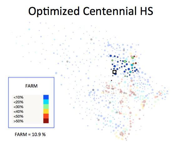 Figure 1 (B): Centennial HS District Optimized Plan