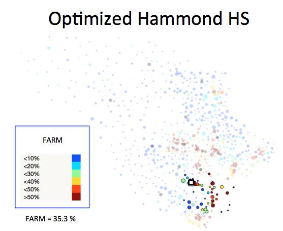 Figure 1 (D): Hammond HS District Optimized Plan