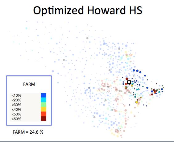 Figure 1 (E): Howard HS District Optimized Plan