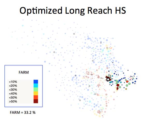 Figure 1 (F): Long Reach HS District Optimized Plan