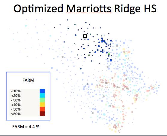Figure 1 (G): Marriotts Ridge HS District Optimized Plan
