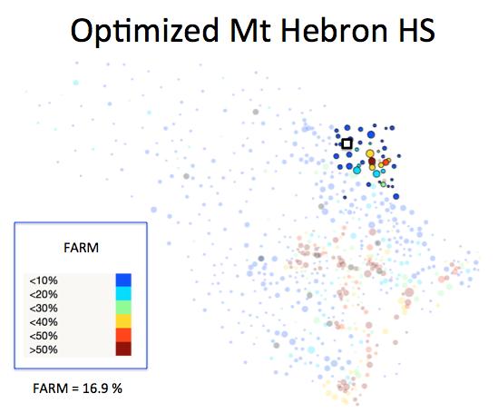 Figure 1 (H): Mt Hebron HS District Optimized Plan