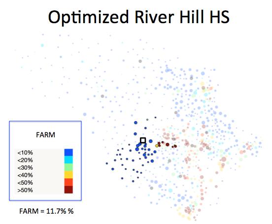 Figure 1 (K): River Hill HS District Optimized Plan