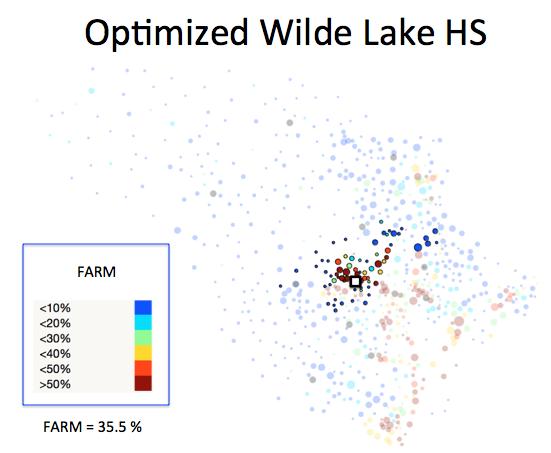 Figure 1 (L): Wilde Lake HS District Optimized Plan