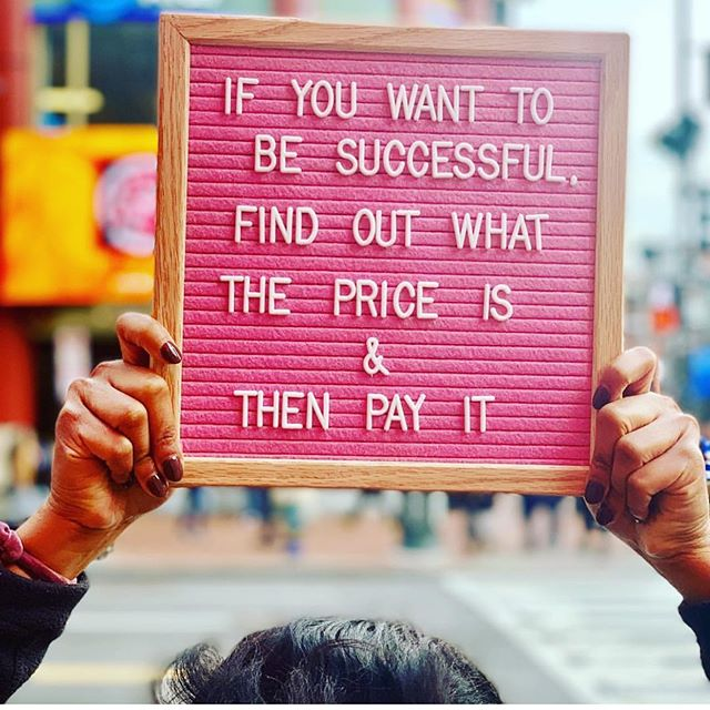 It costs to be the boss‼️ What price are you paying for your success? #GirlsWithGoals