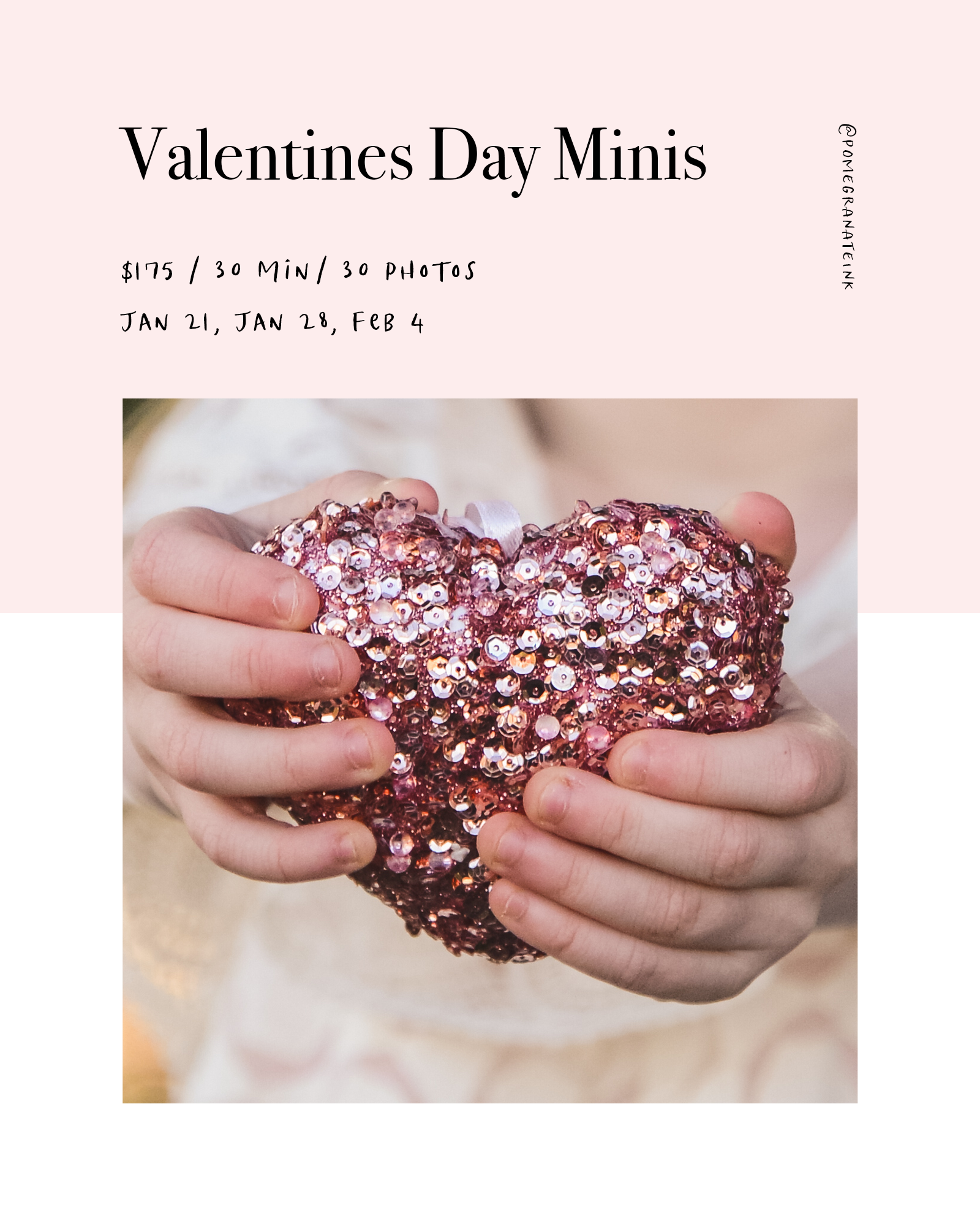 Valentines Day Mini Sessions - Join me for a 30 minute mini session this January and February.