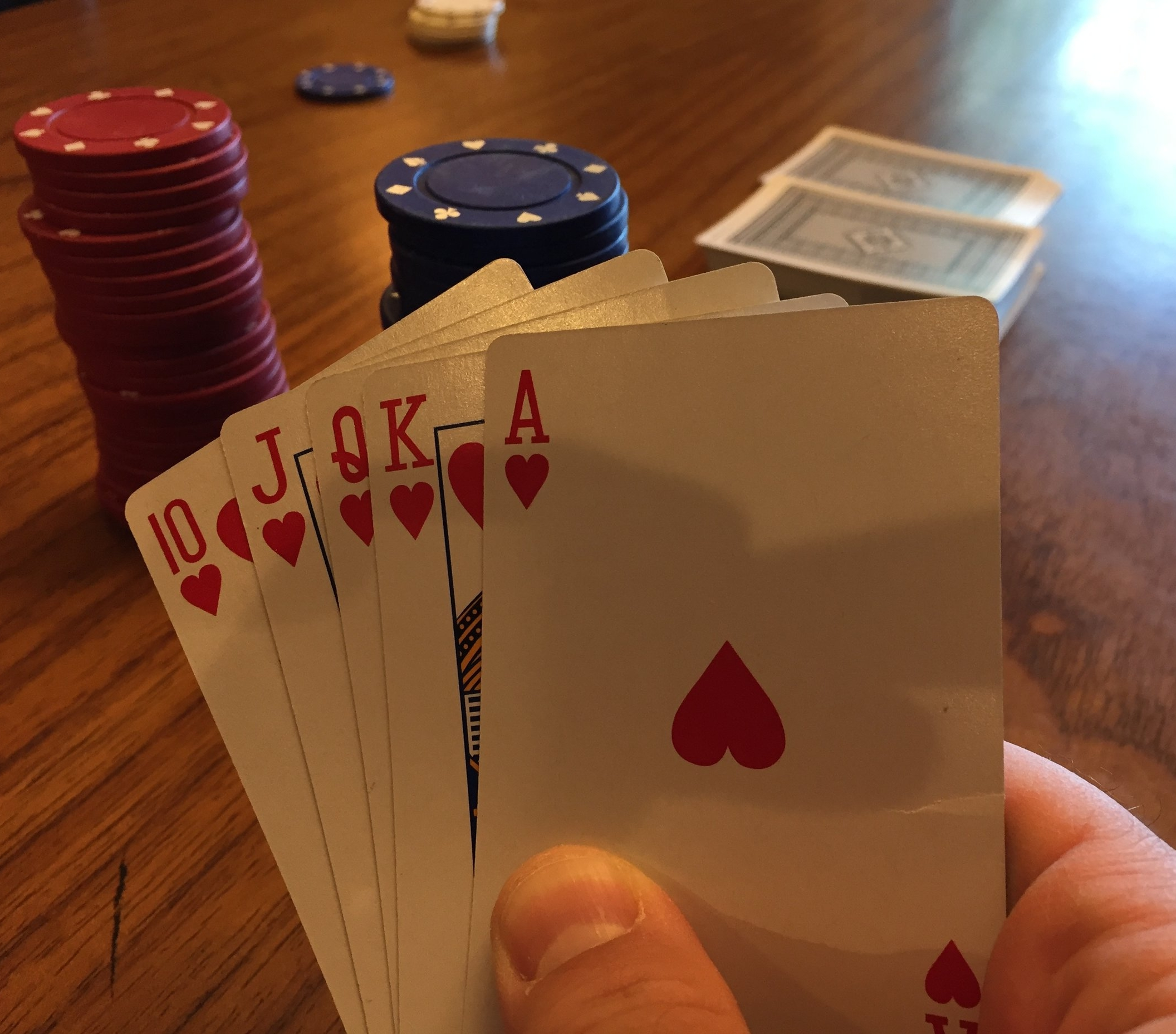 """""""Hey a Royal Flush! Neat! What are the odds?"""" Pretty damn good if you're Mr. Perfect."""