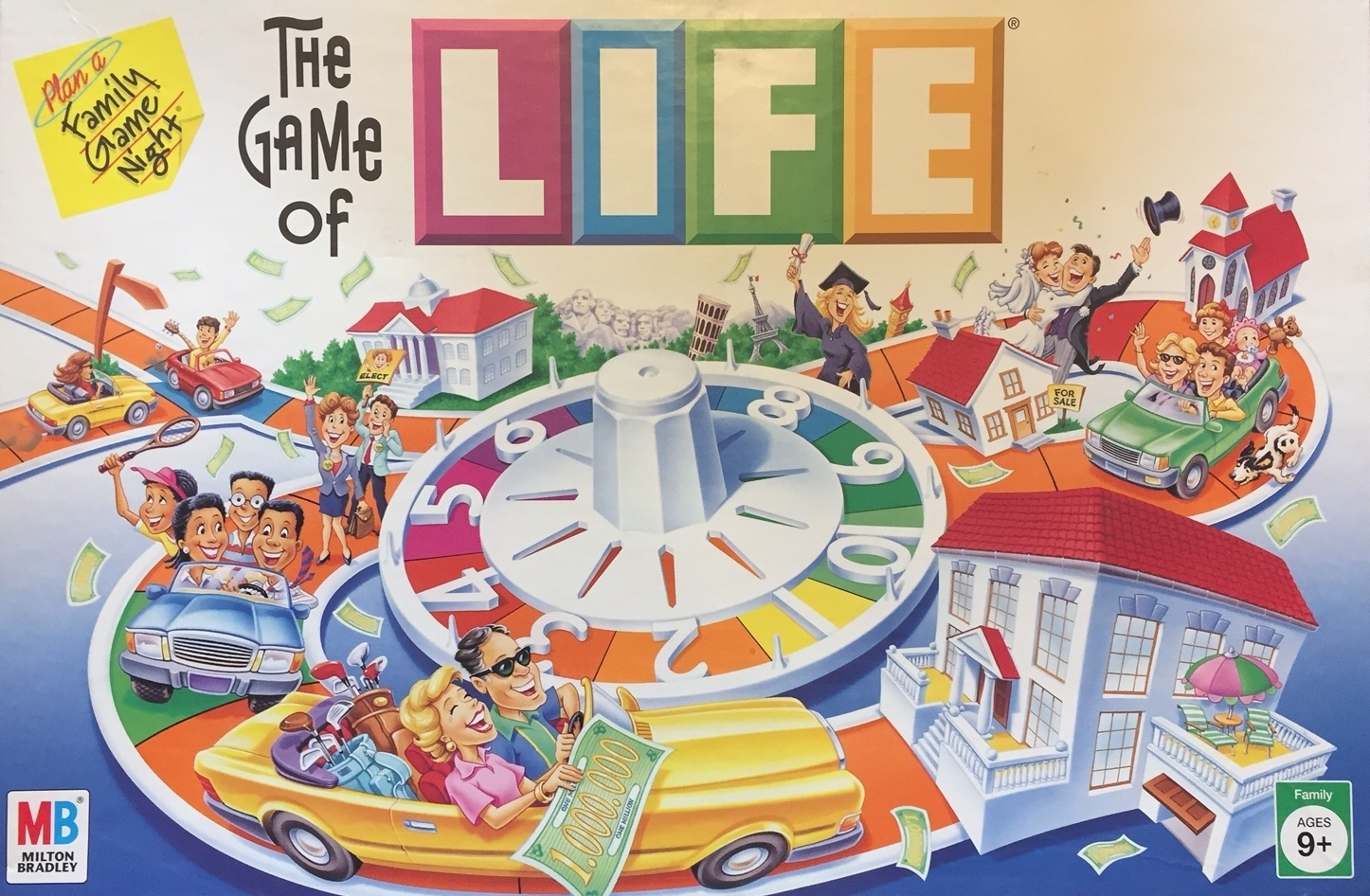 The Game of Life: Making people hate board games since 1860.