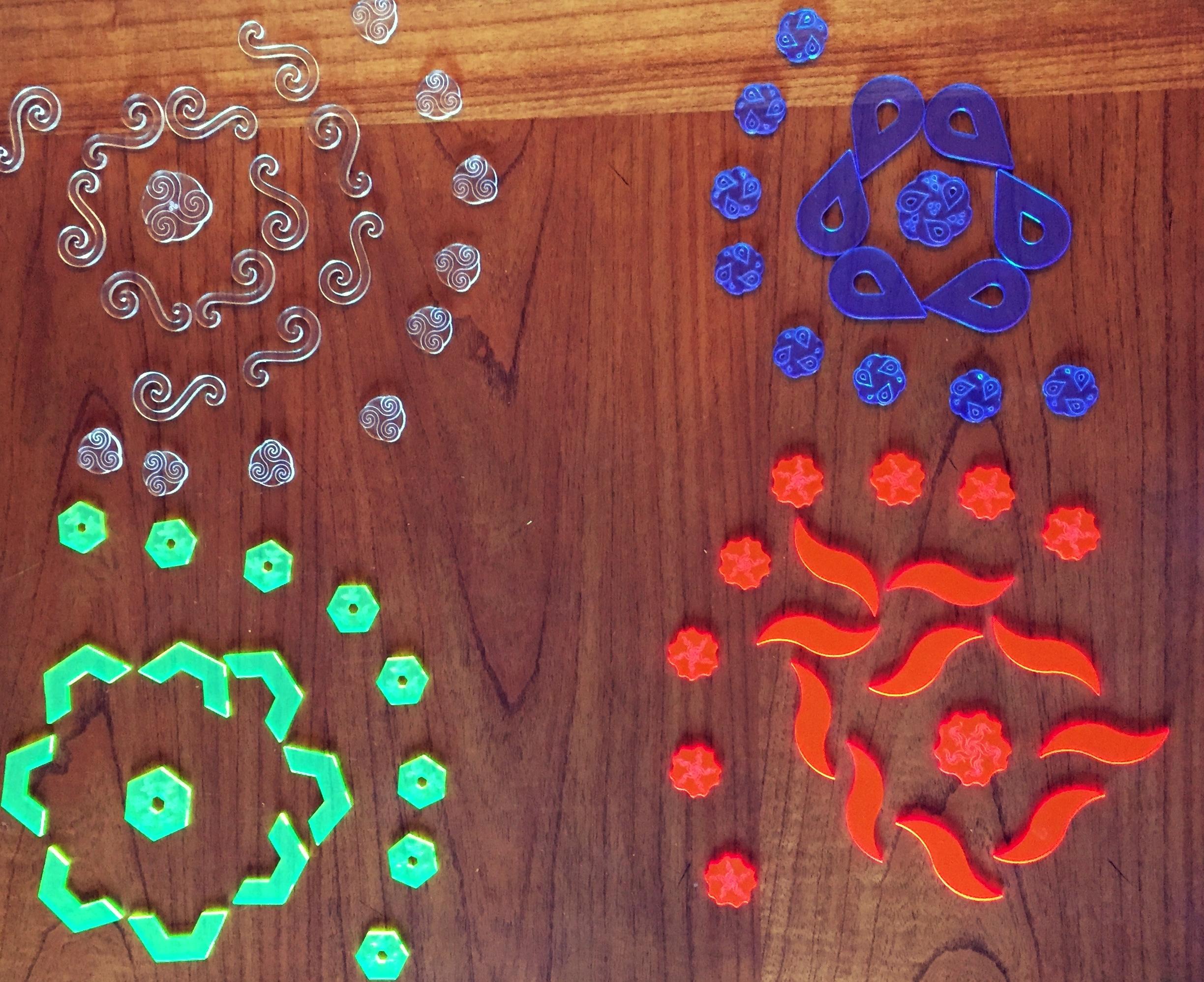 Four Elements Board Game Pieces